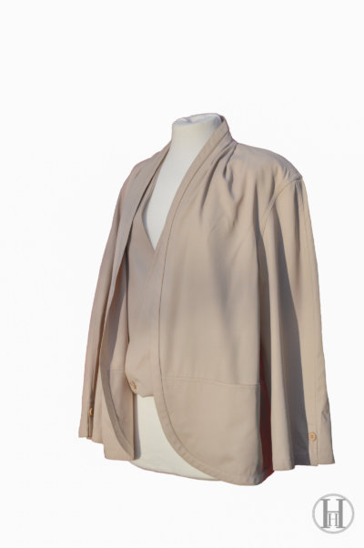 Gianfranco Ferrè vintage wool double blazer jacket waistcoat beige three quarters