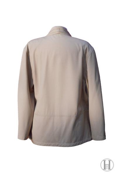 Gianfranco Ferrè vintage wool double blazer jacket waistcoat beige back