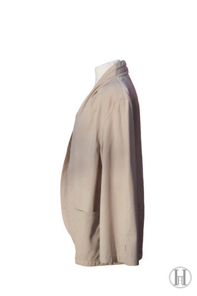 Gianfranco Ferrè vintage wool double blazer jacket waistcoat beige side