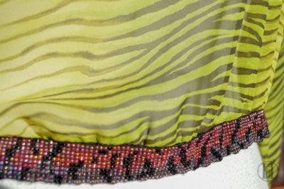 Just Cavalli Zebra Blouse detail beads