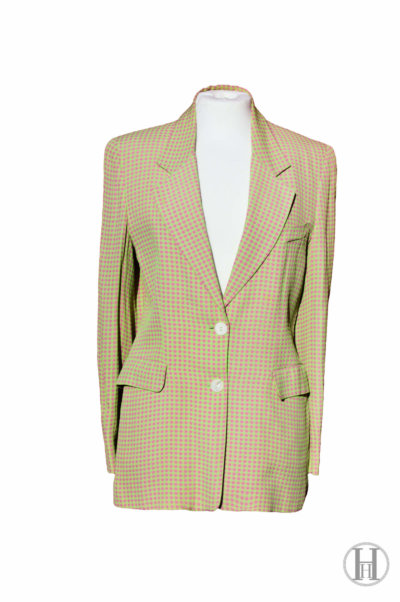 Oliver by Valentino green and pink vintage blazer