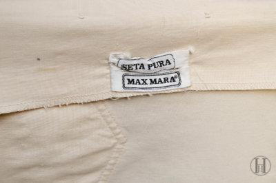 Max Mara Beige Silk Blouse vintage label