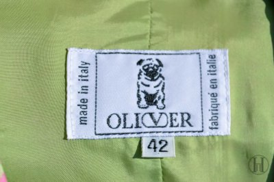 Oliver by Valentino green and pink vintage blazer label size 42