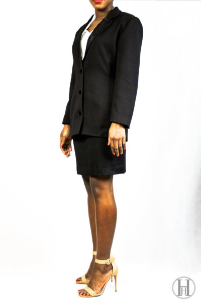 Kenzo Jungle Black Vintage Tailleur Model