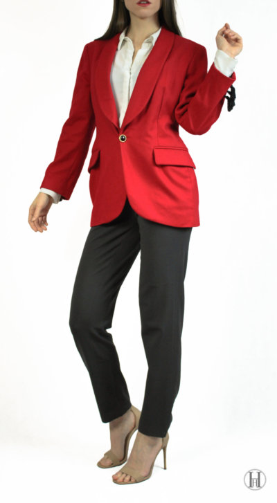 Moschino Cheap and Chic Red Blazer Model