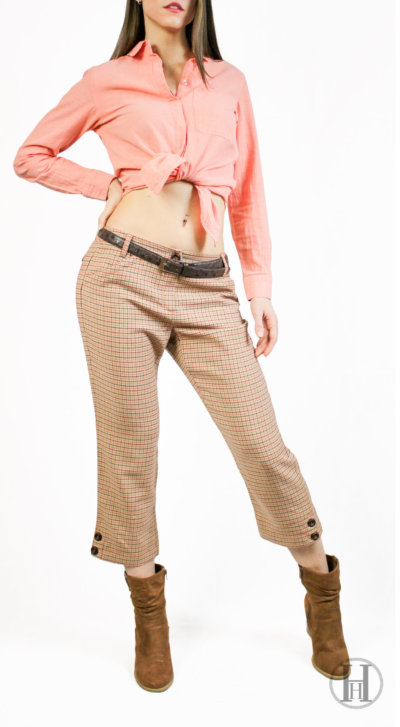 Vintage Sexy Trousers Fashion Model