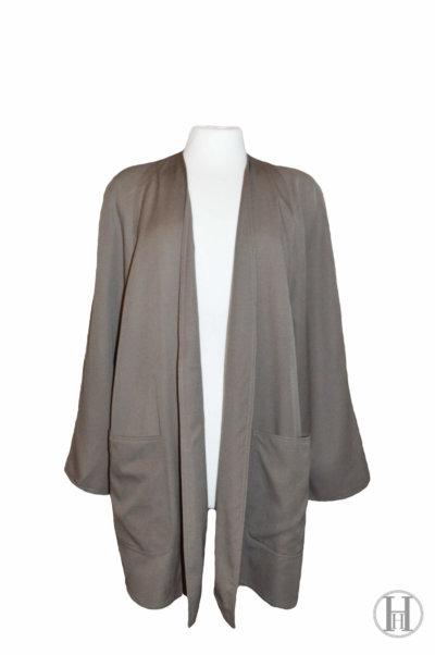 Marina Rinaldi vintage beige wool overcoat front