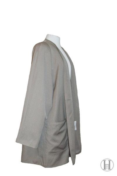 Marina Rinaldi vintage beige wool overcoat side