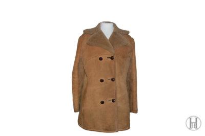Vintage Shearling Coat Wool