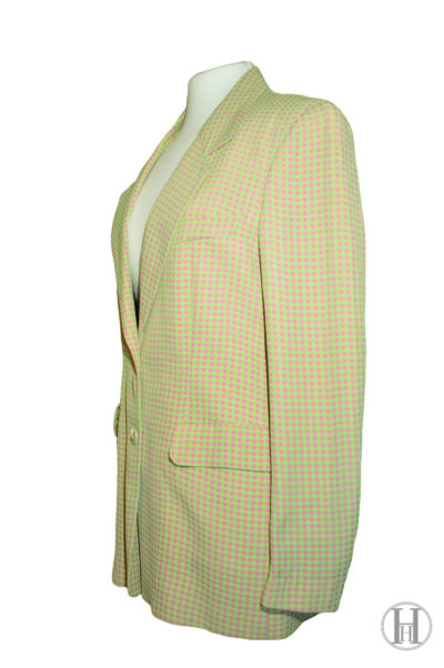 Oliver by Valentino green and pink vintage blazer side