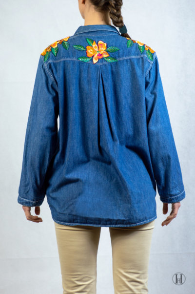 Bluemarine Vintage Woman Denim Shirt Back