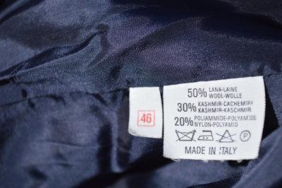 Vintage Cashmere Blazer comosition